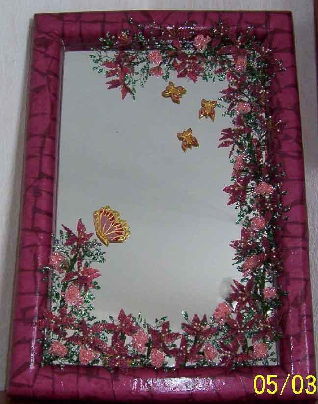 Схожим методом можно украшать не только лишь зеркала, да и рамки...  Одновременное внедрение стольких техник и...